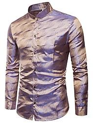 cheap -Men's Club Cotton Shirt - Solid Colored Jacquard