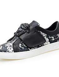 baratos -Homens sapatos Couro Ecológico Primavera Outono Conforto Tênis para Casual Branco/Preto Preto/Vermelho