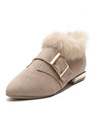economico -Da donna Scarpe Tessuto Inverno Comoda Zoccoli e ciabatte Punta tonda Perle Per Casual Nero Beige