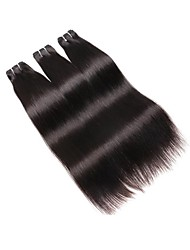 cheap -Brazilian Hair Bundles Straight Human Hair Weaves 3pcs For Black Women Natural Color Hair Weaves Women's Dailywear