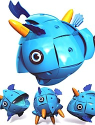 Недорогие -Магнитные плитки / Конструкторы 71pcs Новый дизайн Рыбки трансформируемый Мультяшная тематика Мальчики Подарок