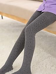 cheap -Girls' Solid Winter Hosiery,Cotton Stretchy Cute Wine Dark Gray