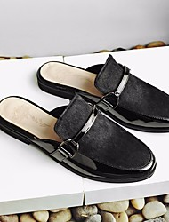 cheap -Women's Shoes Horse Hair Spring Summer Comfort Clogs & Mules Flat Heel Round Toe for Casual Black