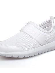 baratos -Para Meninos Sapatos Couro Ecológico Primavera Verão Solados com Luzes Conforto Tênis para Atlético Casual Branco Azul Escuro Rosa claro