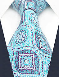 Недорогие -мужской партийный рабочий районный галстук - геометрический цветной блок жаккарда