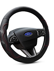 cheap -Automotive Steering Wheel Covers(Leather)For Ford All years Escort Fiesta Mondeo Kuga Edge Focus