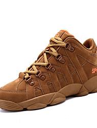 preiswerte -Damen Schuhe Wildleder Frühling Herbst Komfort Sneakers Flacher Absatz für Draussen Schwarz Grau Braun