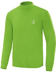 baratos -Homens Golfe Camiseta com Fecho Secagem Rápida A Prova de Vento Vestível Respirabilidade Golfe Exercicio Exterior