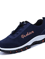 cheap -Men's Suede Fall / Winter Athletic Shoes Hiking Shoes Black / Gray / Royal Blue