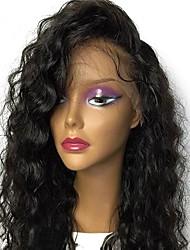 levne -Přírodní vlasy Brazilské vlasy Krajka paruka Vlnitá Volné vlny Dětské vlasy Celokrajkové Nezpracované 100% Panna Přírodní vlasová linie