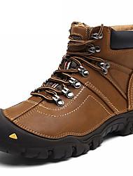 abordables -Homme Chaussures Cuir Nappa Hiver Automne Confort Chaussures d'Athlétisme pour Athlétique De plein air Noir Marron