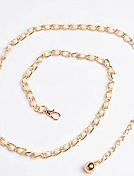 baratos -Mulheres Moda de Rua Ouro, Cinto para a Cintura