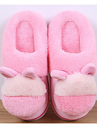 cheap -Girls' Shoes Fleece Spring Fall Comfort Slippers & Flip-Flops for Casual Gray Peach Brown Pink