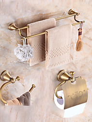 cheap -Bathroom Accessory Set Neoclassical Brass Wall Mounted