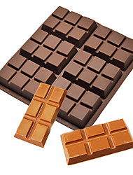 cheap -6 Cells Medium Chocolate Bar Candy Cake Silicone Mold Pastry Cookie Baking Mould
