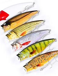 preiswerte -6 Stück Angelköder Druckknopf Harte Fischköder Kunststoff Outdoor Seefischerei Bootsangeln / Schleppangelfischen Spinnfischen