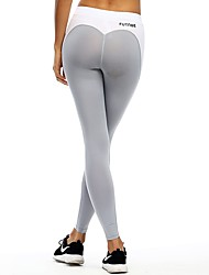 cheap -Women's Patchwork Running Tights - White, Dark Grey, Grey Sports Modal Tights / Leggings Yoga, Fitness, Gym Activewear Stretchy, Butt Lift