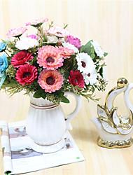 Недорогие -1 Филиал Полиэстер Другое Ромашки Букеты на стол Искусственные Цветы