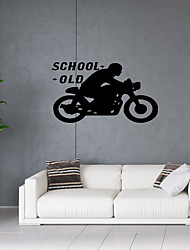 abordables -Personnage Sports Stickers muraux Autocollants avion Autocollants muraux décoratifs, Vinyle Décoration d'intérieur Calque Mural Fenêtre