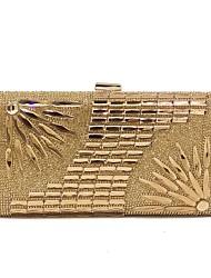 economico -Per donna Sacchetti Poliestere Borsa da sera Dettagli con cristalli Oro / Argento