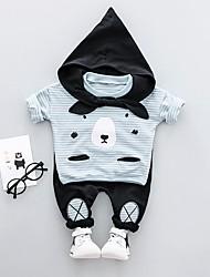 preiswerte -Baby-Set Langarm-Spott Hals Pullover niedlich spitz zu binden Krawatte Patch Patchwork in voller Länge Hosen schicke Set