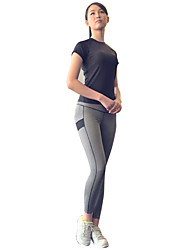 cheap -Women's Activewear Set - Black, Grey Sports Compression Clothing / Leggings Running Activewear Quick Dry, Windproof, Breathability