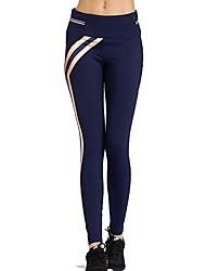 abordables -Mujer Pantalones de Running - Negro, Azul Oscuro Deportes Licra Pantalones / Sobrepantalón / Leggings Ropa de Deporte Transpirabilidad,