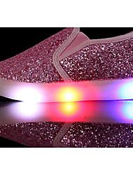 preiswerte -Mädchen Schuhe Paillette PU Frühling Herbst Komfort Loafers & Slip-Ons für Normal Gold Silber Rosa