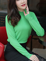 cheap -Women's Long Sleeve Pullover - Solid Colored / Fall / Winter