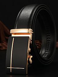 cheap -Men's Casual Leather Waist Belt Buckle