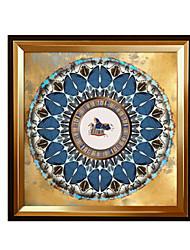 economico -Pitture ad olio con cornice Astratto Ad olio Decorazioni da parete, Legno Materiale con cornice Decorazioni per la casa Cornice Salotto