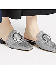 abordables -Femme Chaussures Paillettes Printemps Automne Confort Sabot & Mules Talon Bas pour Décontracté Or Noir Argent