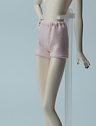 cheap -Pants Shorts & Pants & Leggings For Barbie Doll Light Pink Pants For Girl's Doll Toy