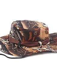 Недорогие -Шляпа для туризма и прогулок Шляпа Boonie Широкий край Защита от солнечных лучей Устойчивость к УФ Хлопок Лето для Муж. Жен. Восхождение На открытом воздухе Кофейный