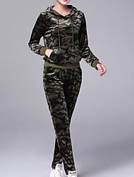 economico -Per donna Felpa con cappuccio Mimetico Pantalone