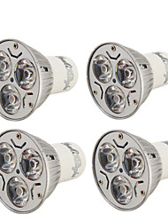 cheap -3W GU10 LED Spotlight R63 3 High Power LED 200-250 lm Warm White Cold White 3000/6000 K Decorative AC 220-240 AC 110-130 V