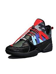 preiswerte -Damen Schuhe PU Frühling Herbst Komfort Sneakers Flacher Absatz Geschlossene Spitze für Draussen Schwarz Regenbogen