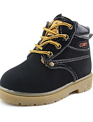 cheap -Boys' Shoes Leatherette Winter Comfort Boots Lace-up for Black / Yellow / Brown