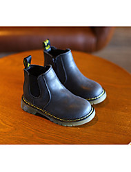 cheap -Girls' Boys' Shoes Synthetic Microfiber PU Winter Fall Snow Boots Comfort Boots Booties/Ankle Boots for Casual Black Light Brown Dark