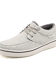 cheap -Men's Shoes Canvas Winter Fall Fluff Lining Comfort Sneakers for Casual Office & Career Black Gray