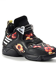 preiswerte -Damen Schuhe PU Herbst Winter Komfort Sneakers Flacher Absatz Geschlossene Spitze für Draussen Schwarz