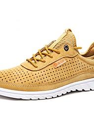 abordables -Homme Chaussures Cuir Cuir Nappa Printemps Eté Confort Chaussures d'Athlétisme Course à Pied pour Bureau et carrière De plein air Gris