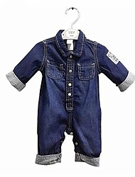cheap -Baby Boys' Simple Casual / Daily Solid Colored Long Sleeve Cotton Overall & Jumpsuit