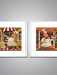 Недорогие -Отпечатки на холсте в рамах Современный, 2 панели холст Квадратный С картинкой Декор стены Украшение дома