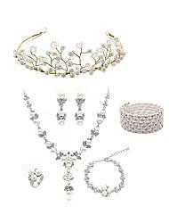 cheap -Women's Jewelry Set - Imitation Pearl, Imitation Diamond European, Fashion Include Wreaths / Bridal Jewelry Sets White For Wedding / Party