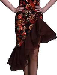 preiswerte -Latein-Tanz Unten Damen Samt Muster / Druck Normal Röcke