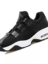 abordables -Chaussures Polyuréthane Printemps Automne Confort Basket pour De plein air Blanc Noir