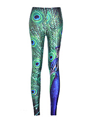 cheap -Women's Cotton Bamboo Fiber Opaque Stitching Lace Solid Colored Legging