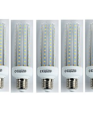 cheap -5pcs 19W 1600 lm E27 LED Corn Lights T30 96 leds SMD 3528 Cold White AC 110-240V