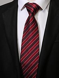 preiswerte -Herrn Freizeit Ganzjährig Polyester Hals-Binder, Gestreift Rote